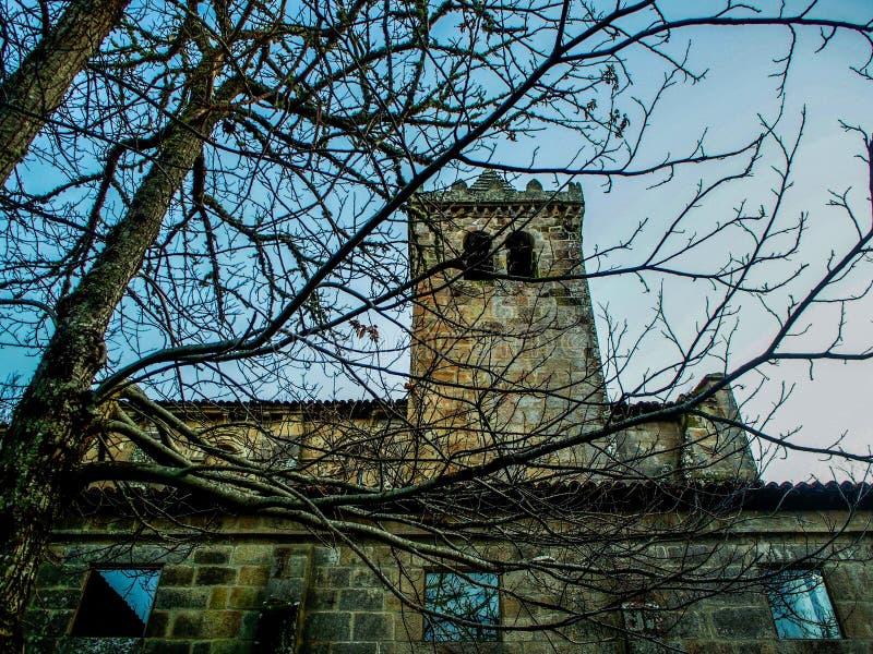 Monastério de Santa Cristina de Ribas de Sil em Ourense imagens de stock