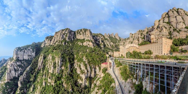 Monastério de Santa Maria de Montserrat, Catalonia, Spain.   foto de stock