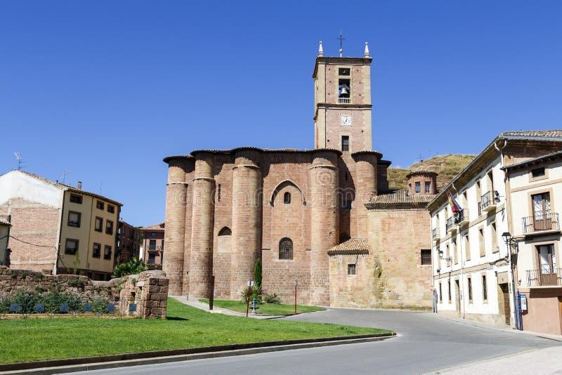 Monastério de Santa Maria la Real, Najera foto de stock