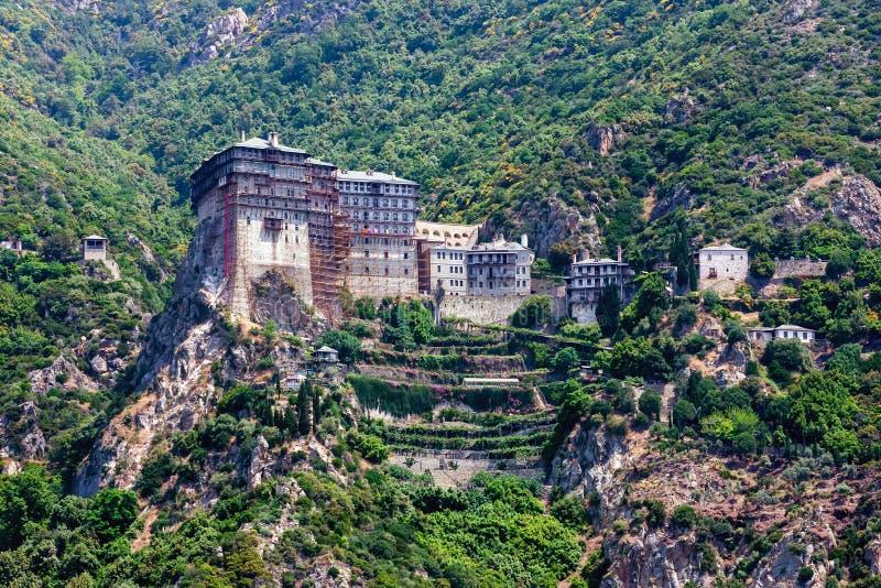 Monastério de Simonopetra, Monte Athos fotos de stock