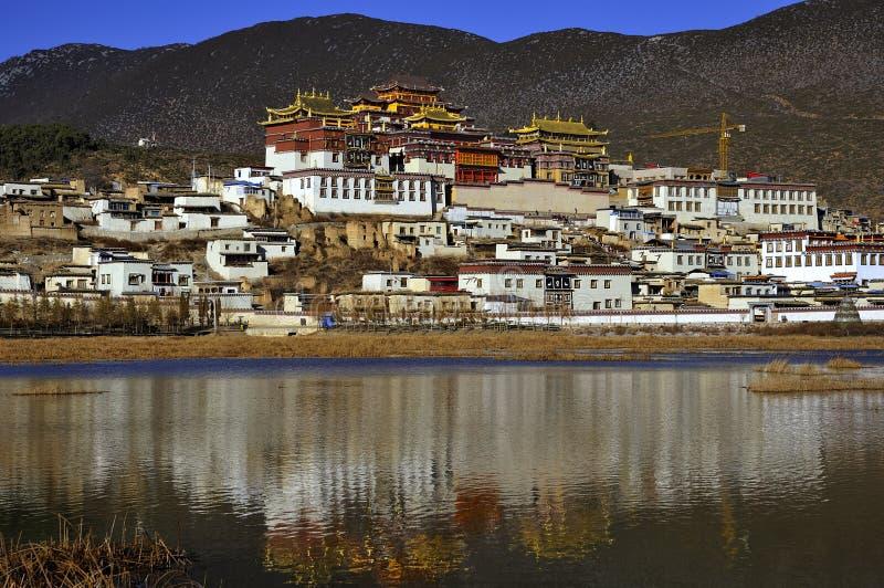 Monastério de Songzanlin imagem de stock royalty free