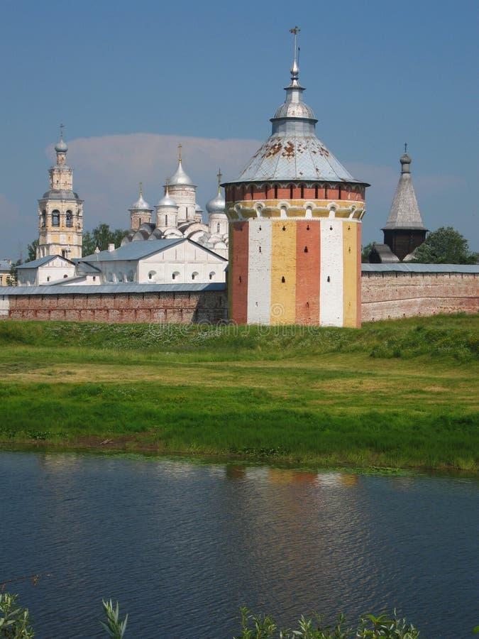 Monastério de Spaso-Prilutskiy, Vologda, Rússia fotografia de stock royalty free