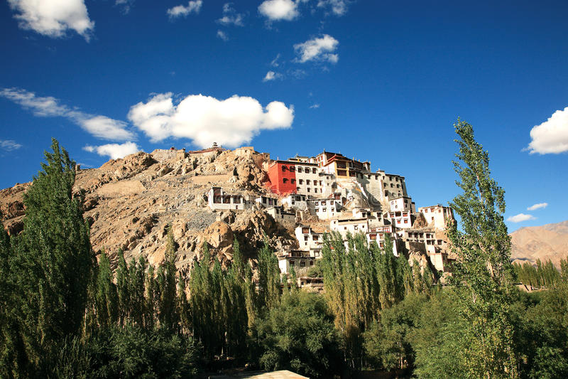 Monastério de Spituk, Leh-Ladakh, Índia foto de stock royalty free