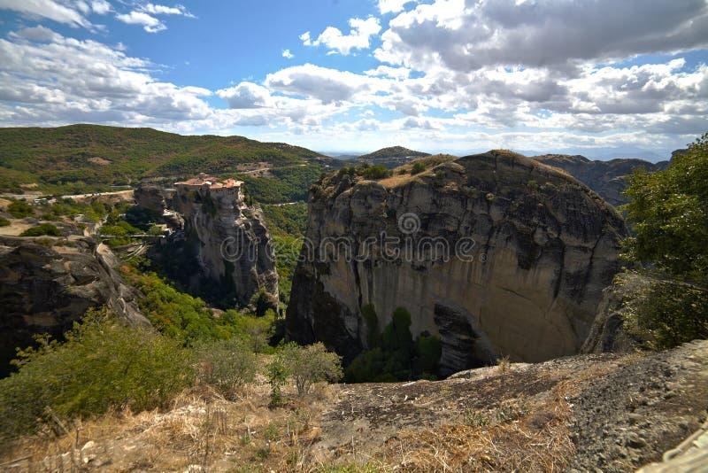 Monastério de St Barlaam em Grécia imagem de stock royalty free