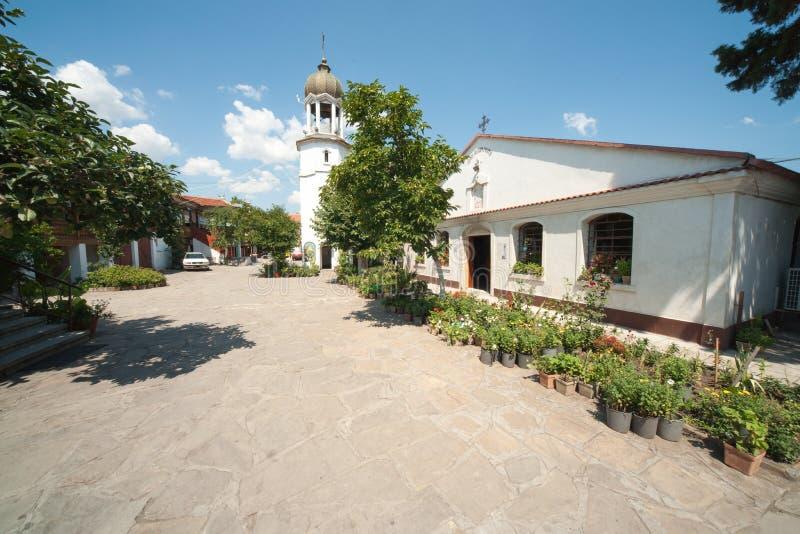 Monastério de St George em Pomorie em Bulgária fotos de stock