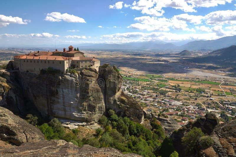 Monastério de St Stephen em Grécia fotografia de stock royalty free