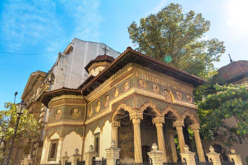 Monastério de Stavropoleos em Bucareste imagens de stock royalty free