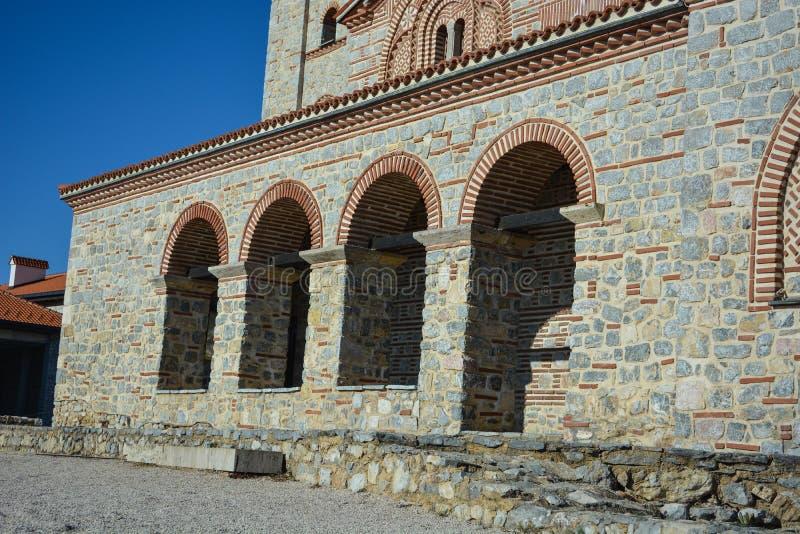 Monastério de StPanteleimon em Ohrid fotografia de stock