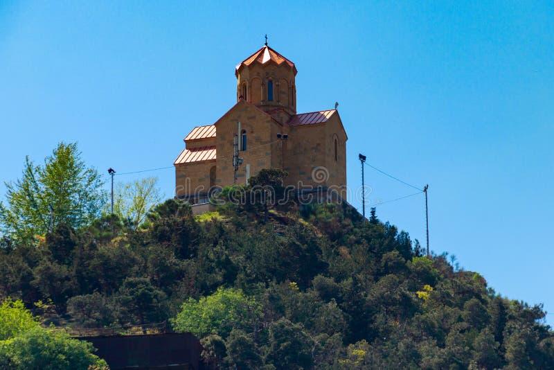 Monast?rio de Tabor da transforma??o em um monte em Tbilisi, Ge?rgia imagem de stock royalty free