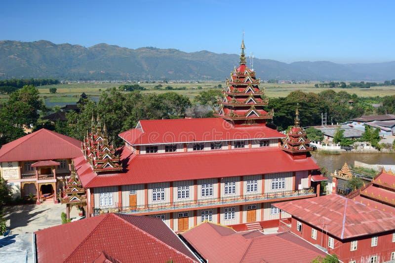Monastério de Tain Nan Distrito de Nyaungshwe Lago Inle myanmar imagem de stock royalty free