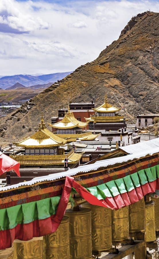 Monastério de Tashilumpo em Shigatse - Tibet imagens de stock royalty free