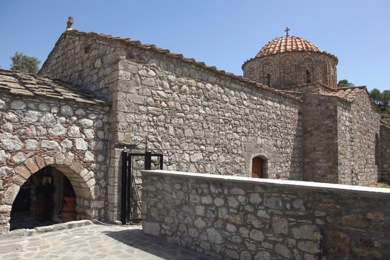 Monastério de Thari na ilha do Rodes imagem de stock royalty free