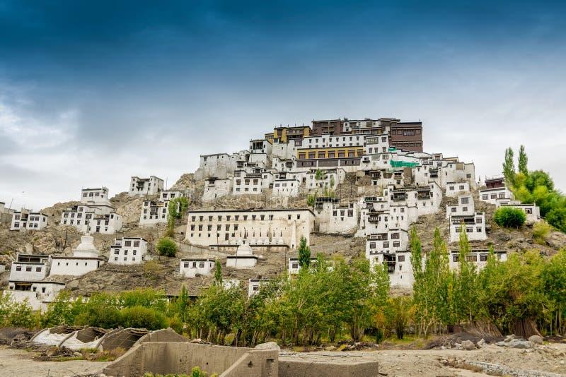 Monastério de Thiksay, Ladakh, Jammu e Caxemira, Índia fotos de stock royalty free