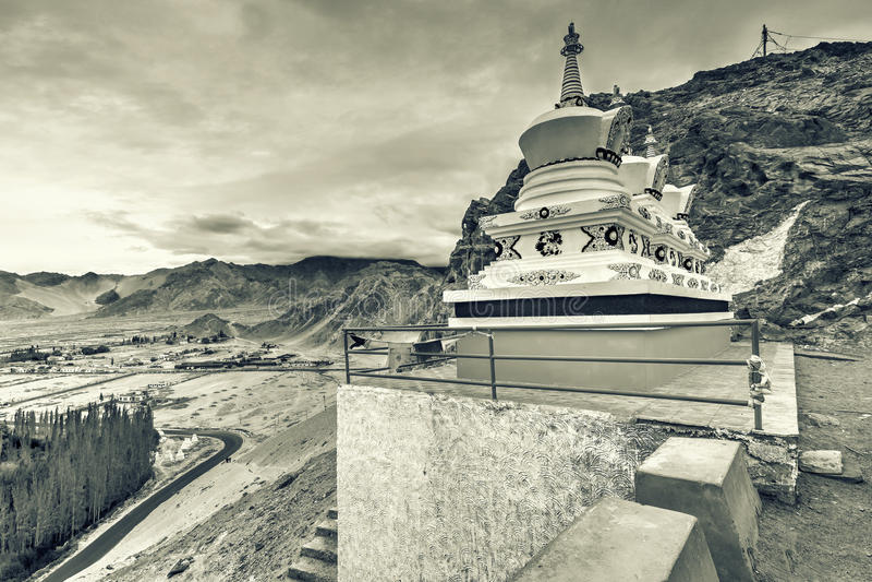 Monastério de Thiksay, Leh, Ladakh, Jammu e Caxemira, Índia imagem de stock royalty free