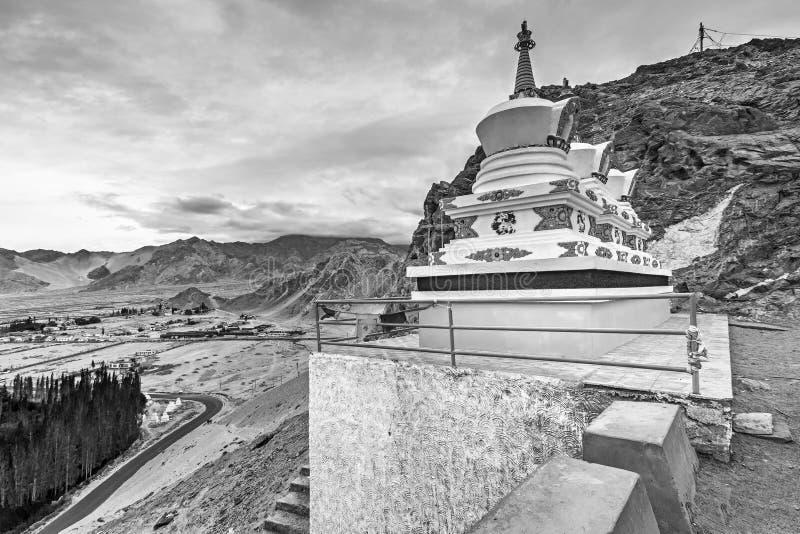 Monastério de Thiksay, Leh, Ladakh, Jammu e Caxemira, Índia fotografia de stock