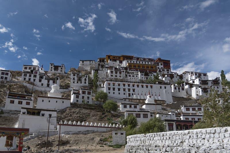 Monastério de Thiksey em Ladakh, Índia, Ásia imagem de stock