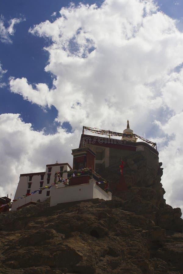 Monastério de Thiksey de Jammu e Caxemira, Índia imagens de stock royalty free
