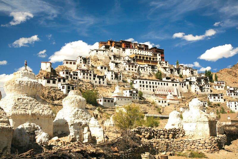 Monastério de Thiksey, Leh-Ladakh, Índia fotos de stock royalty free