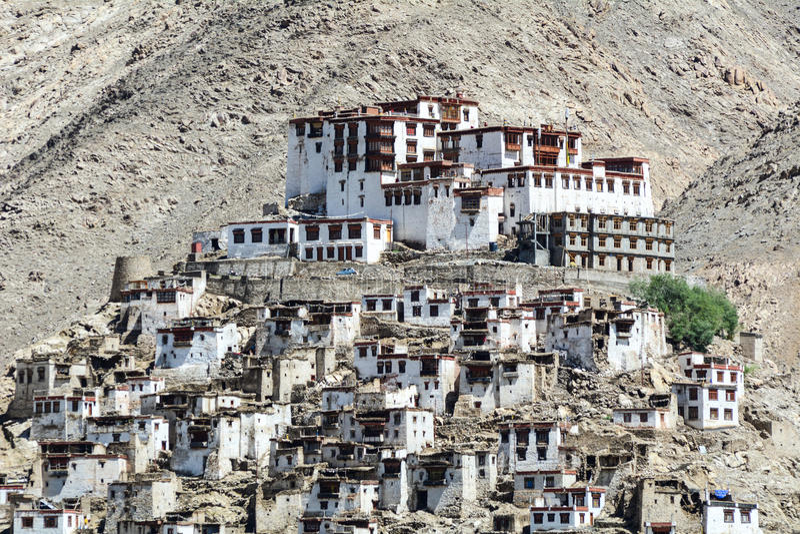 Monastério de Thiksey, Leh-Ladakh imagem de stock royalty free