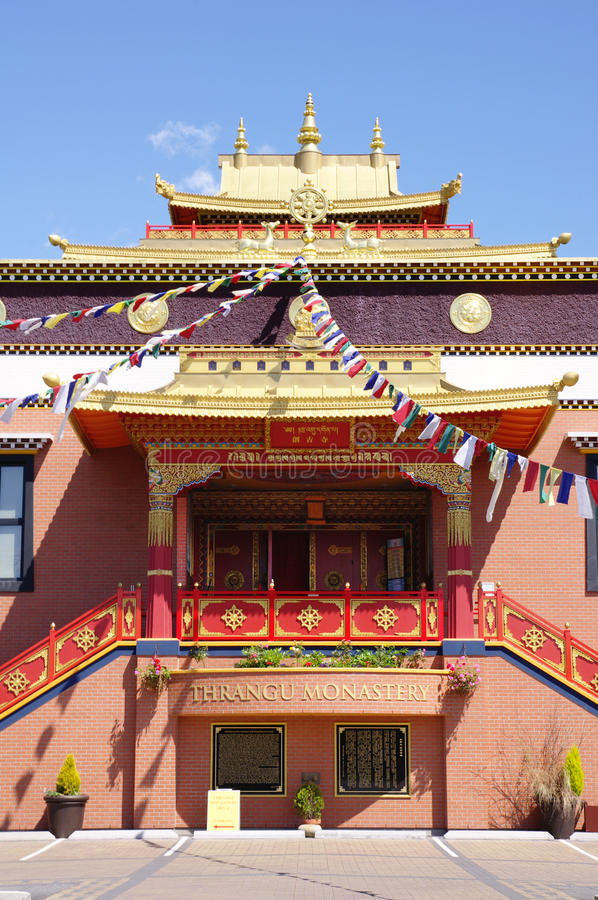 Monastério de Thrangu do tibetano, Richmond, Canadá foto de stock royalty free