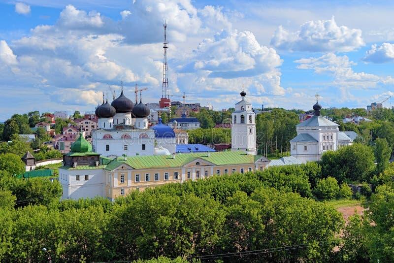 Monastério de Uspensky Trifonov em Kirov, Rússia fotografia de stock royalty free