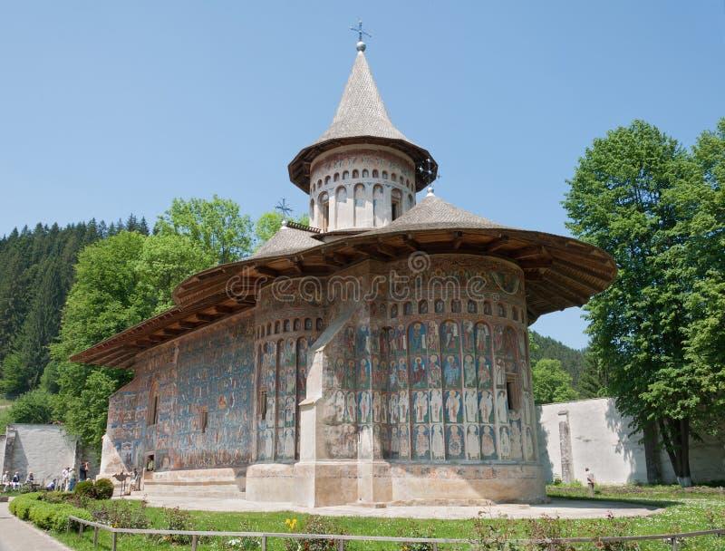 Monastério de Voronets em Romania fotos de stock