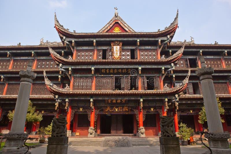 Monastério de Wenshu em Chengdu imagem de stock