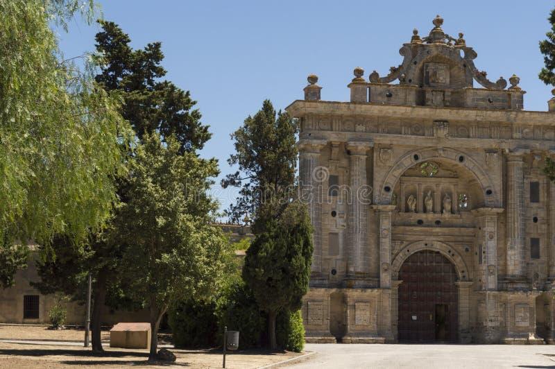 Monastério do Cartuja de Jerez, situado em Jerez de la Frontera fotos de stock