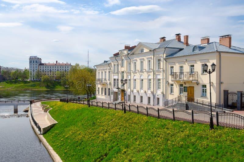 Monastério do Espírito Santo em rios Zapadnaya Dvina e Vitba, Vitebsk, Bielorrússia foto de stock royalty free