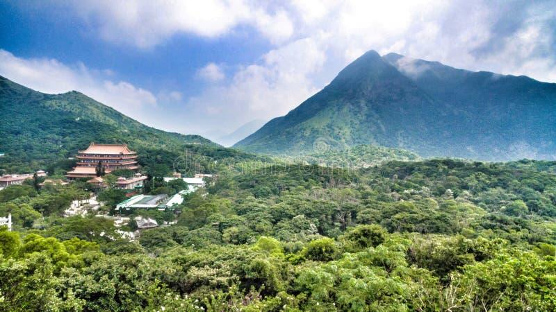 Monastério do Po Lin fotos de stock royalty free