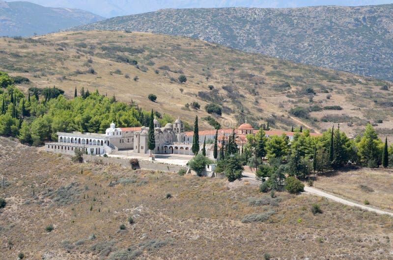 Monastério do porto de Agia em Argos Peloponnese, Grécia fotos de stock