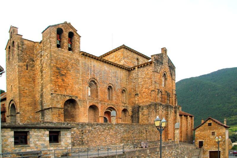 Monastério do romanesque do siresa de San Pedro fotografia de stock royalty free