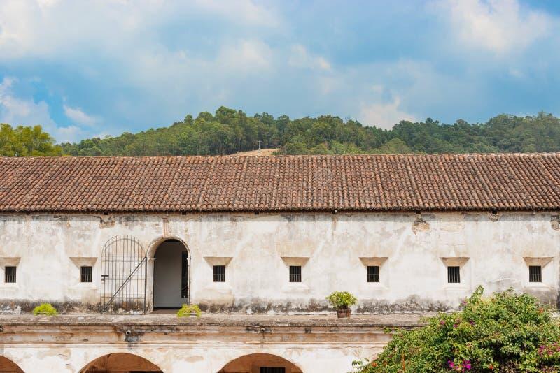 Monastério dos Capuchins em Antígua, Guatemala imagens de stock royalty free