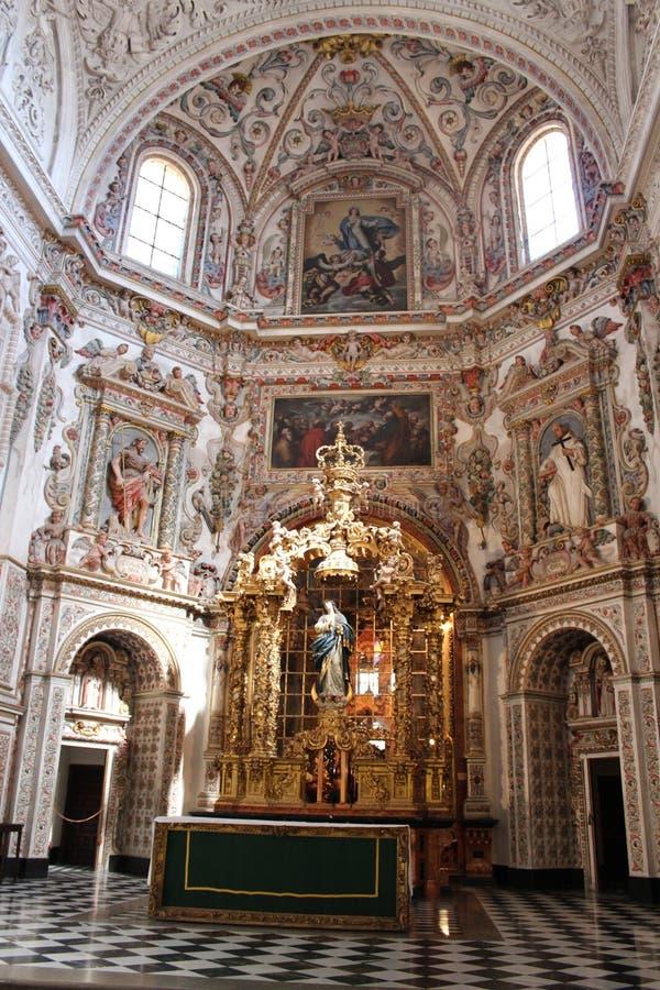 Monastério e igreja de St Jerome em Granada, Espanha foto de stock