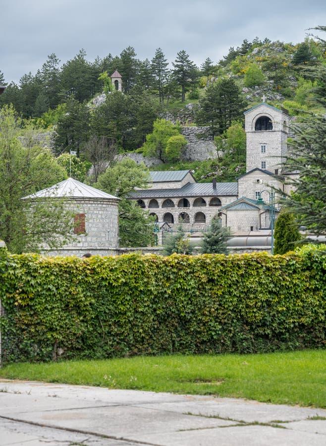 Monastério e jardins reais em Cetinje Montenegro foto de stock