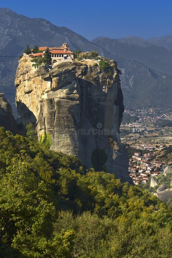 Monastério em Meteora em Greece fotos de stock royalty free