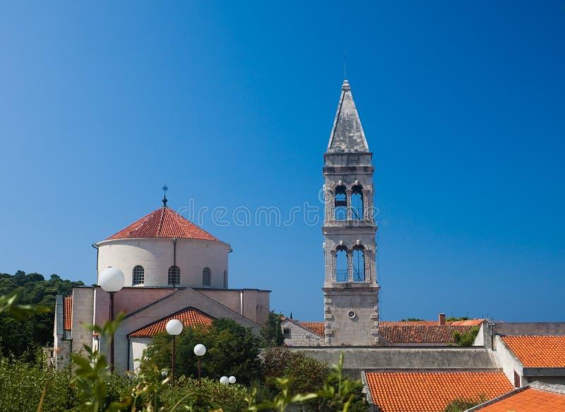Monastério Franciscan. Makarska. Croatia imagens de stock