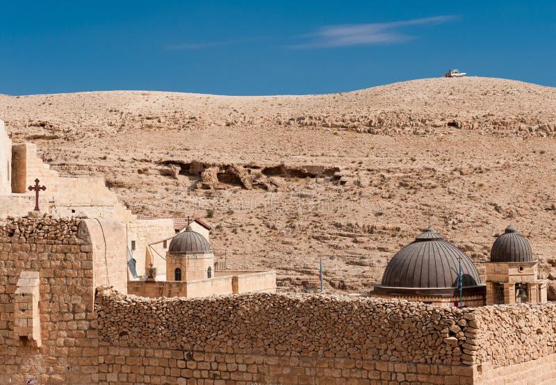 Monastério grego em Palestina fotografia de stock