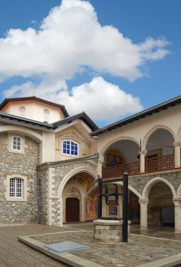 Monastério Kykkos em Chipre, montanhas de Troodos. fotos de stock royalty free
