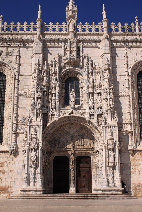 Monastério Lisboa de Jeronimos fotos de stock royalty free
