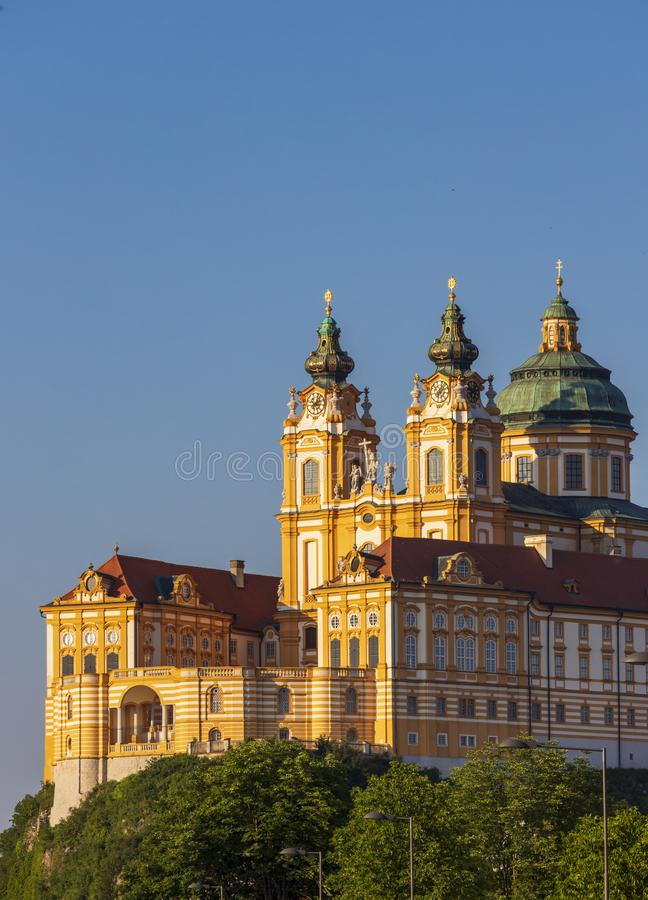 Monastério Melk em Áustria norte fotografia de stock