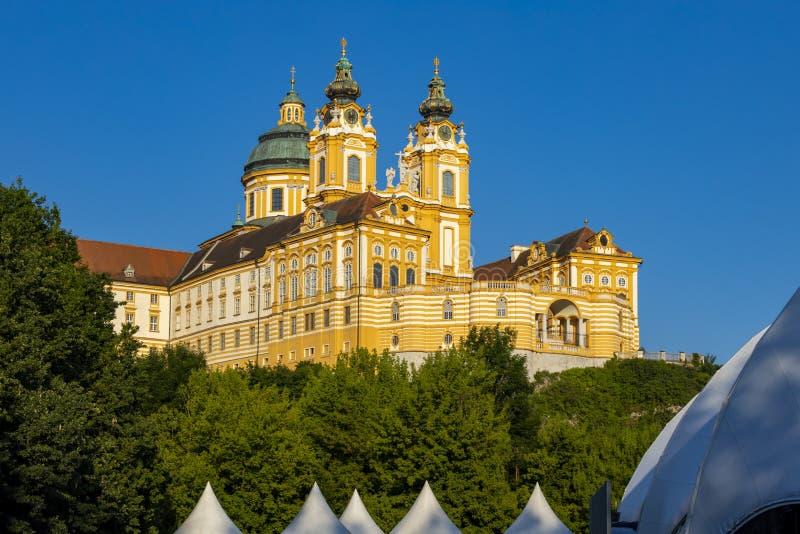 Monastério Melk em Áustria norte imagens de stock