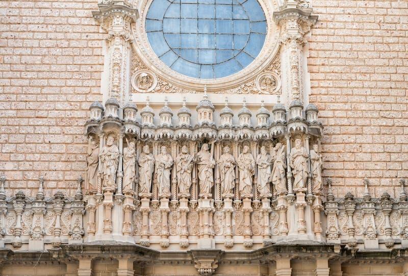 Monastério Monserrate (Catalunya-Espanha) do março de 2016 fotografia de stock