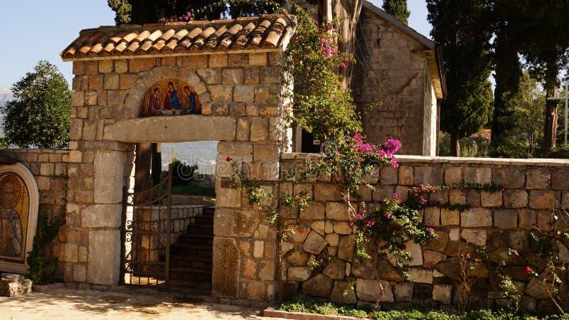 Monastério Montenegro imagens de stock
