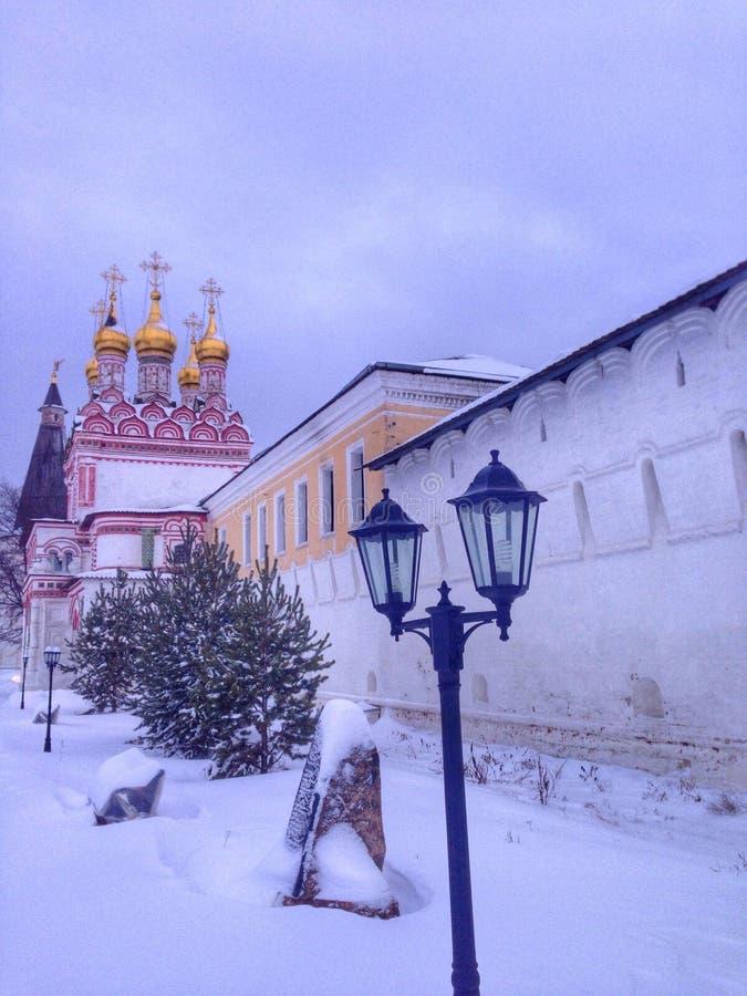 Monastério na região de Moscovo fotografia de stock royalty free
