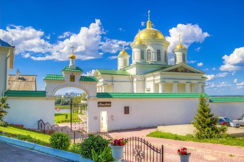 Monastério Nizhny Novgorod do aviso imagens de stock royalty free