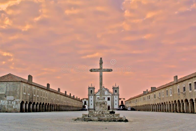 Monastério no por do sol imagens de stock royalty free