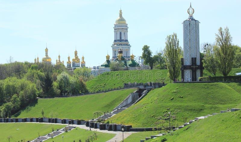 Monastério ortodoxo de Kiev Pechersk Lavra fotos de stock