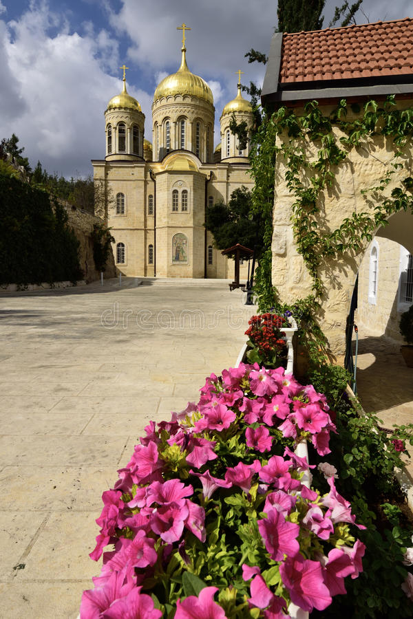 Monastério ortodoxo do russo, Jerusalém imagens de stock royalty free