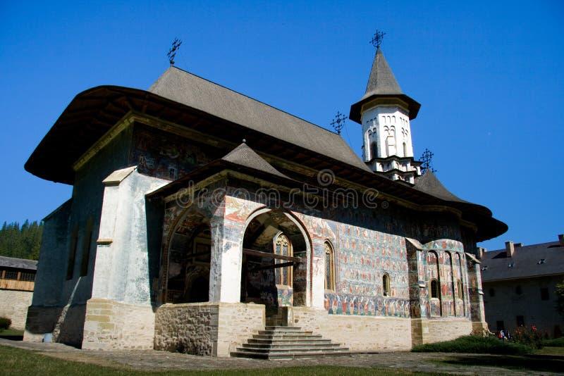 Monastério ortodoxo romeno fotografia de stock